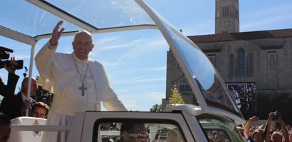Christ the King High School alum shares experience at Papal Mass